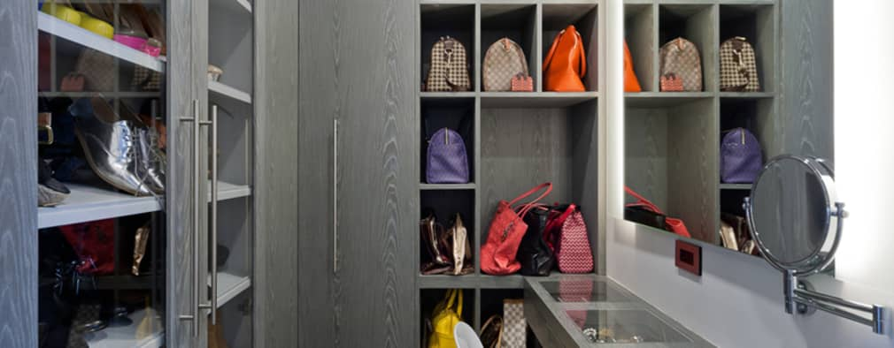 10 modelos de closets abertos para fazer em sua casa for Zapateras modernas para closet