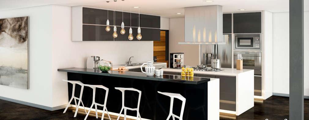 modern Kitchen by LA RORA Interiorismo & Arquitectura