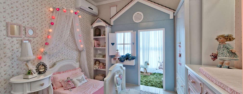 Quarto da menina: Quarto infantil  por Espaço do Traço arquitetura