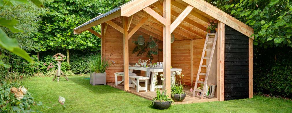 20 ideas geniales para usar madera en el jard n for Bodegas de jardin