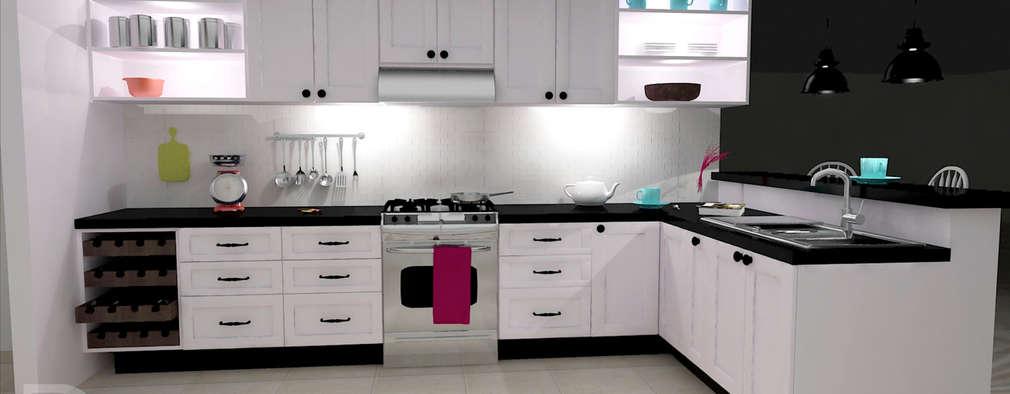 15 cocinas en l que te van a inspirar a remodelar la tuya ya for Remodelar cocina pequena
