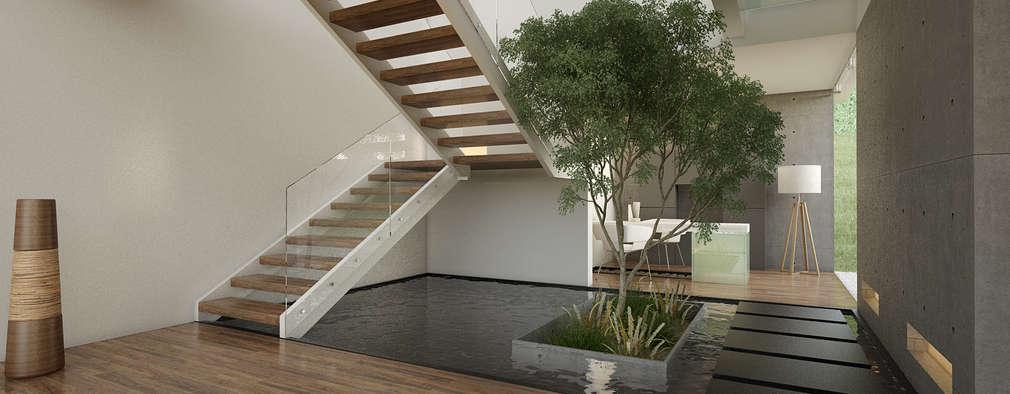 18 jardines zen para tu escalera for Jardines en paredes interiores