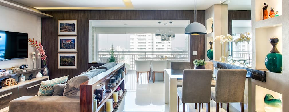 Salas de estilo ecléctico por Adriana Pierantoni Arquitetura & Design