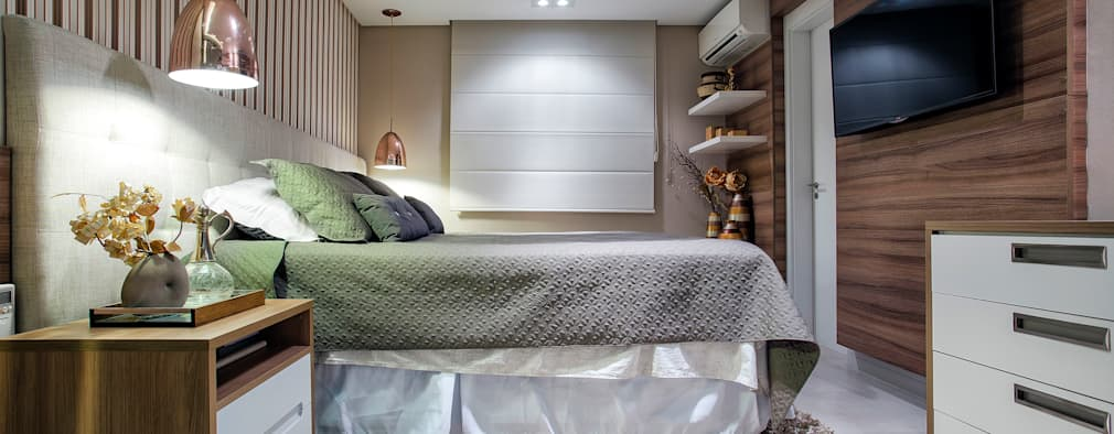 Dormitorios de estilo ecléctico por Adriana Pierantoni Arquitetura & Design