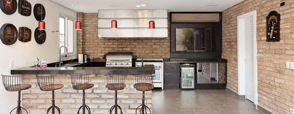 Cocinas de estilo moderno por Moran e Anders Arquitetura