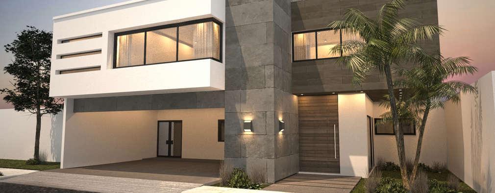 6 modelos de fachadas modernas para remodelar la tuya for Fachadas de casas elegantes modernas