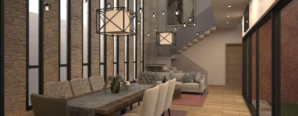 7 formas de acomodar sala y comedor en la misma habitaci n - Decoracion de aparadores de comedor ...