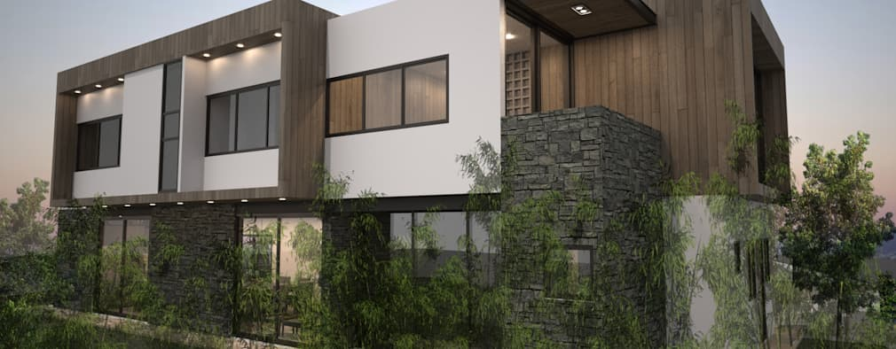25 progetti di facciate moderne da vedere prima di for Immagini di entrate di ville