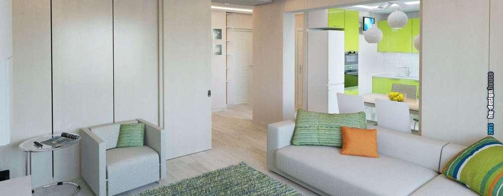 Projekty,  Salon zaprojektowane przez hq-design