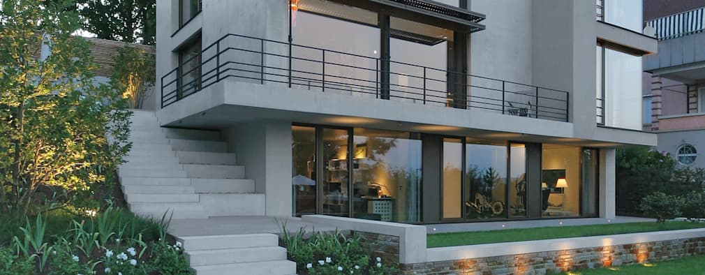 Single Family House: modern Houses by Blocher Blocher India Pvt. Ltd.