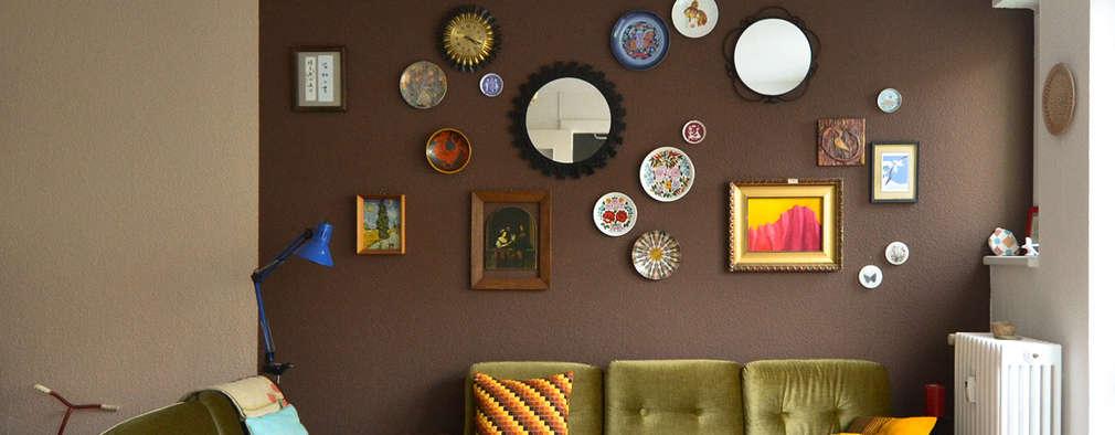 Salas de estar ecléticas por Mighty Vintage