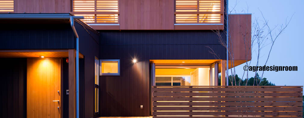 modern Houses by アグラ設計室一級建築士事務所 agra design room