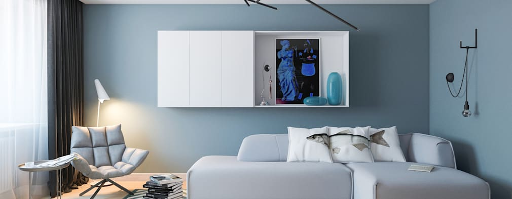 Алена Булатая: modern tarz Oturma Odası