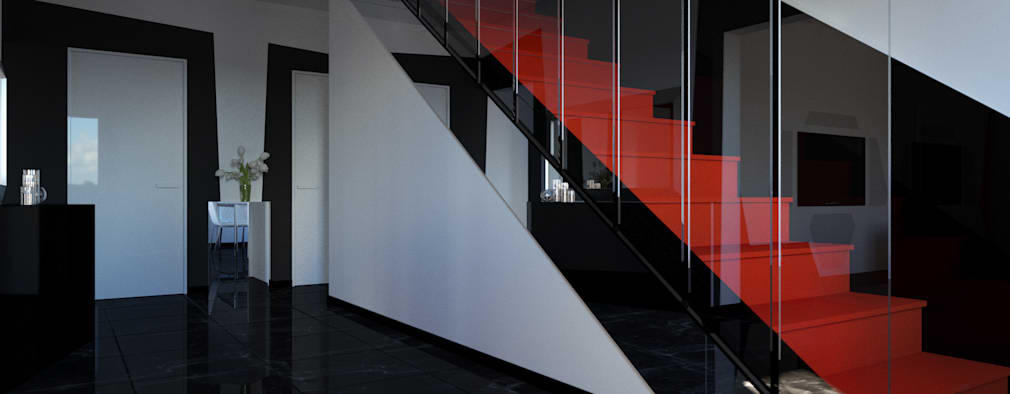 Pasillos, vestíbulos y escaleras de estilo  por Vladimir Gorokhov/SVPREMVS
