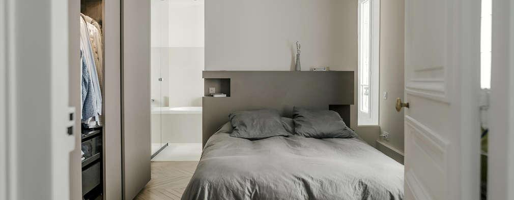 Un maximum de rangement et de lumière pour la chambre parentale: Chambre de style de style Classique par claire Tassinari