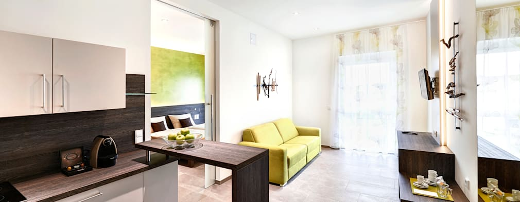minimalistische Woonkamer door Horst Steiner Innenarchitektur