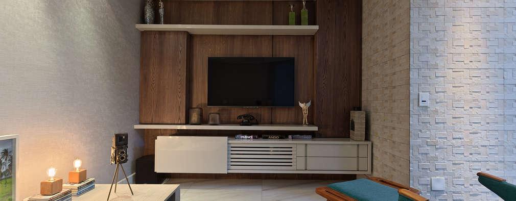 Salas de entretenimiento de estilo moderno por Lucas Lage Arquitetura