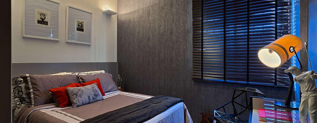 غرفة نوم تنفيذ Lucas Lage Arquitetura