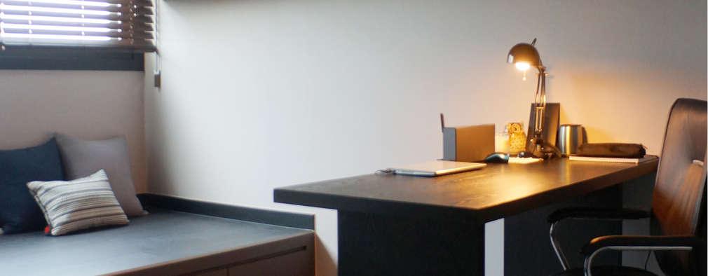 moderne Studeerkamer/kantoor door 마르멜로디자인컴퍼니