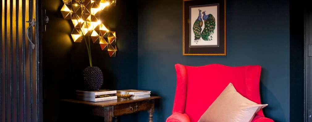 غرفة المعيشة تنفيذ Woodford Architecture and Interiors