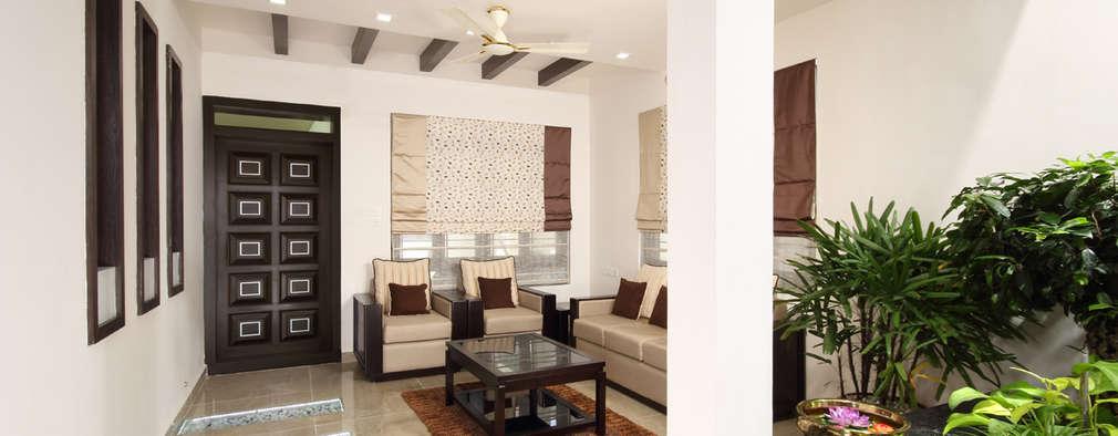 Гостиная в . Автор – Sanskriti Architects