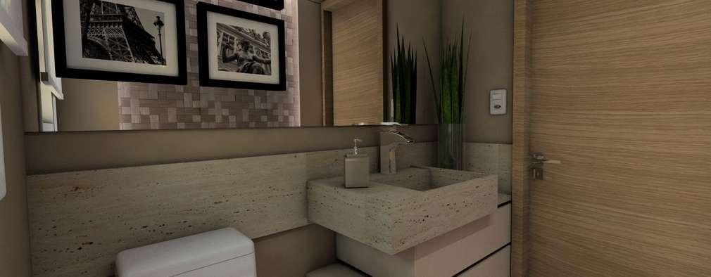 Baños de estilo moderno por Ricardo Cavichioni Arquitetura