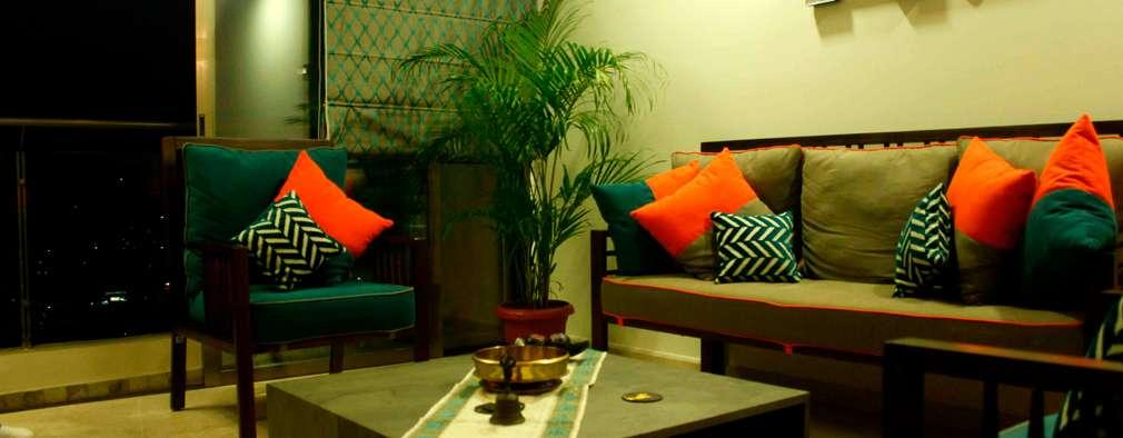 Elegant Asiatische Wohnzimmer Von JRarchitects
