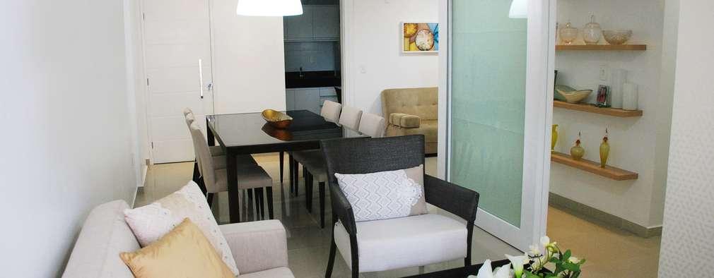 Salas de estilo moderno por Martins Lucena Arquitetos