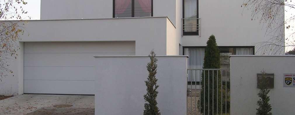 Cyryl House 360: styl nowoczesne, w kategorii Domy zaprojektowany przez ŁUKASZ ŁADZIŃSKI ARCHITEKT