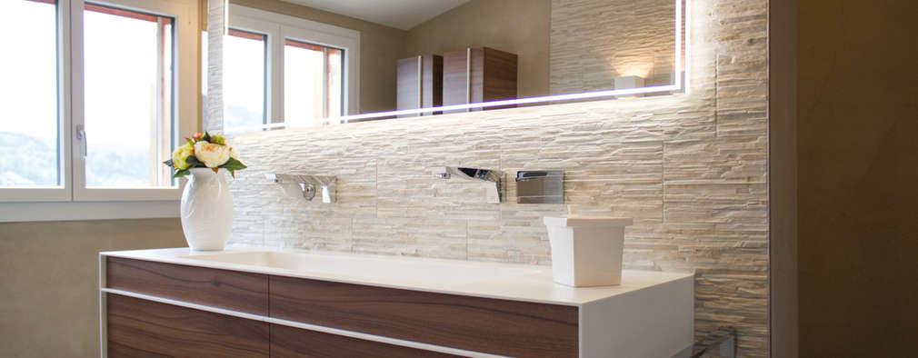 10 ideas de revestimiento para las paredes de tu ba o for Revestimiento vinilico para paredes de banos