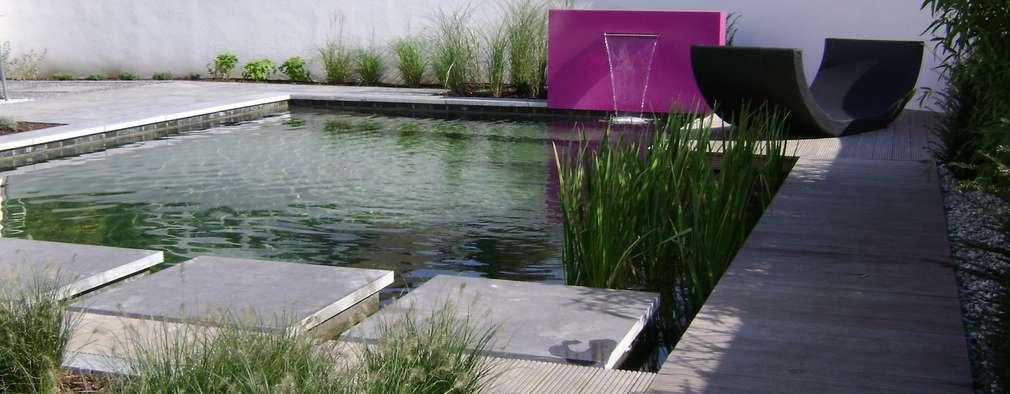 Mur d'eau indépendant en Aluminium coloré:  de style  par SO GARDEN