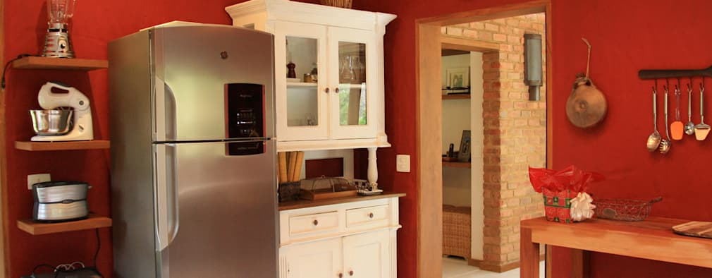 FLAVIO BERREDO ARQUITETURA E CONSTRUÇÃO: kolonyal tarz tarz Mutfak