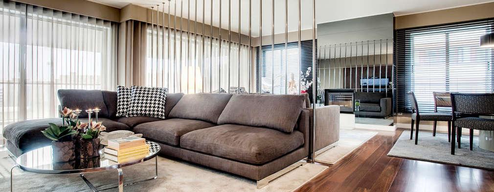 Livings de estilo moderno por Jorge Cassio Dantas Lda