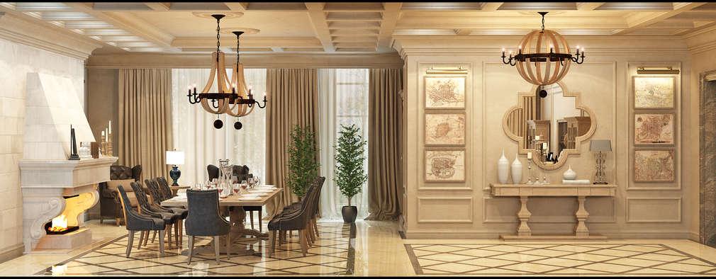 Интерьер дома: Гостиная в . Автор - Rash_studio