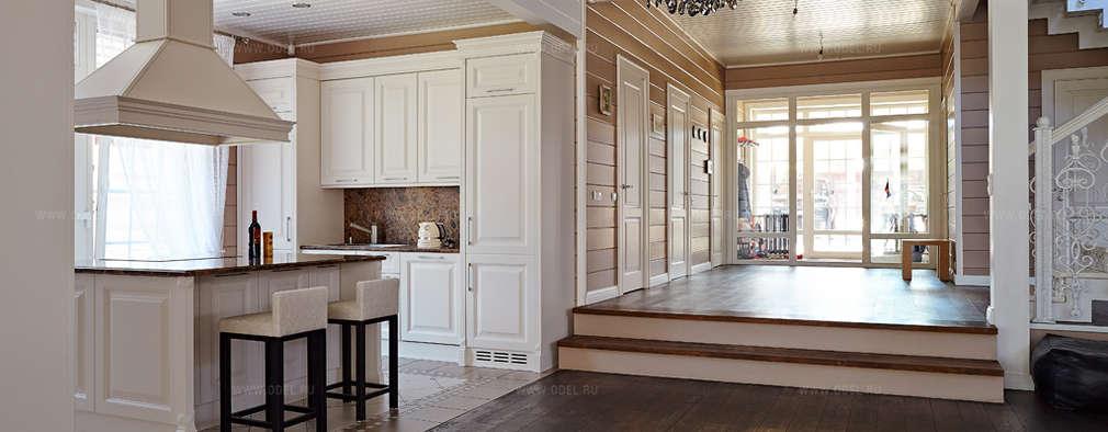 Кухонная зона совмещенная с гостиной: Кухни в . Автор – ODEL