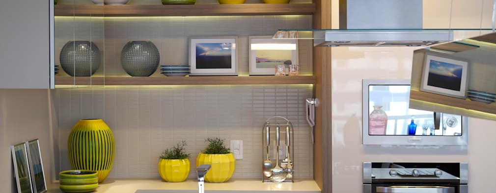 Cocinas de estilo moderno por Amanda Carvalho - arquitetura e interiores