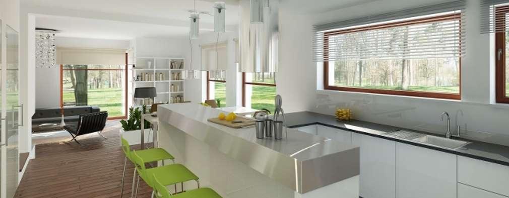 Кухни в . Автор – Biuro Projektów MTM Styl - domywstylu.pl