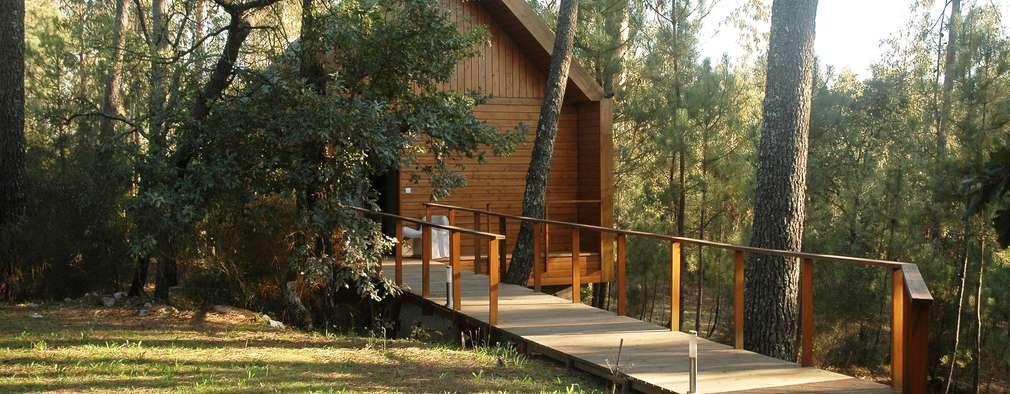 Casas de estilo rústico por NORMA | Nova Arquitectura em Madeira (New Architecture in Wood)