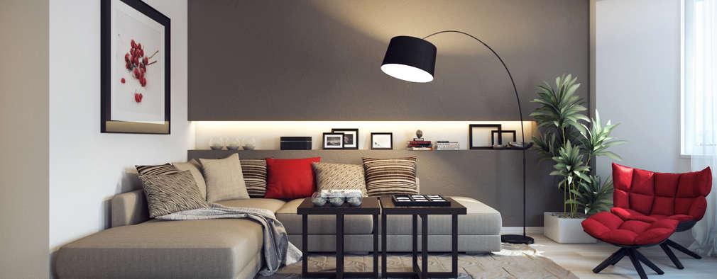 Eclectic Living Room By Design Studio Details