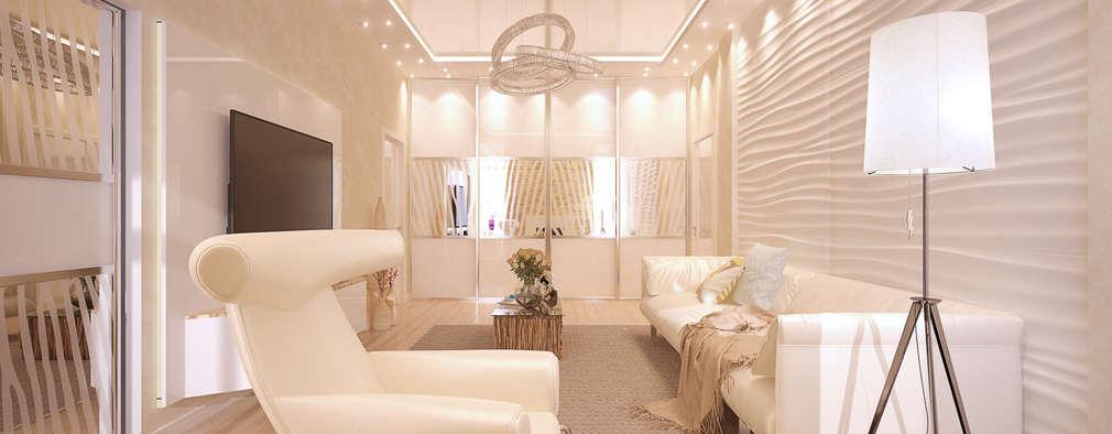 modern Living room by Студия интерьерного дизайна Дарьи Шамардиной и Александра Зуева
