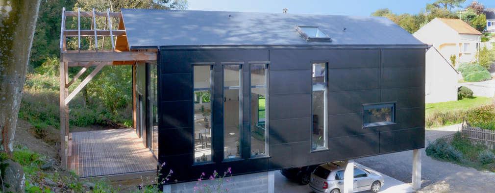 Projekty, skandynawskie Domy zaprojektowane przez Bertin Bichet
