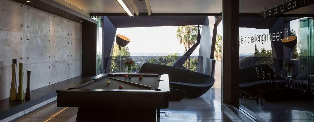 modern Media room by Nico Van Der Meulen Architects