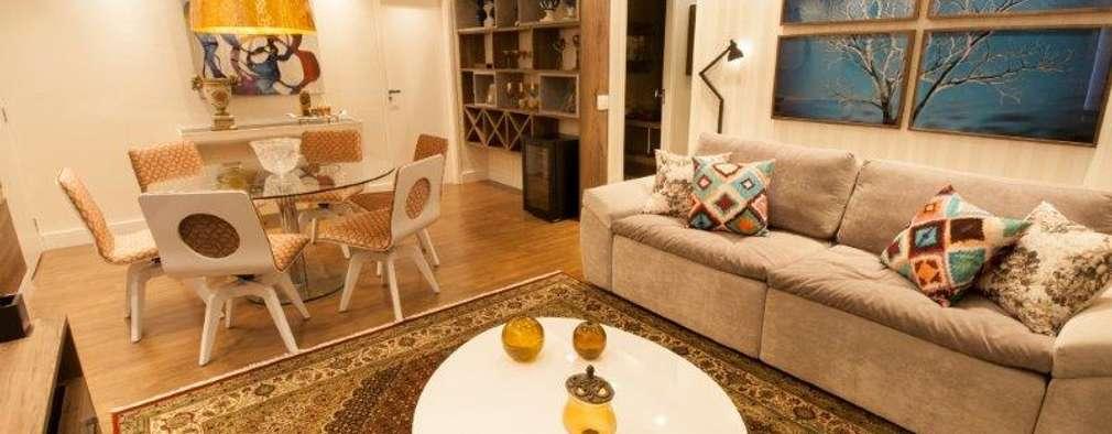 Projekty,  Salon zaprojektowane przez Artenova Interiores