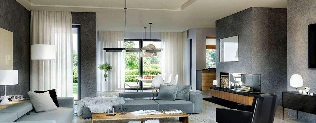 Livings de estilo moderno por Pracownia Projektowa ARCHIPELAG