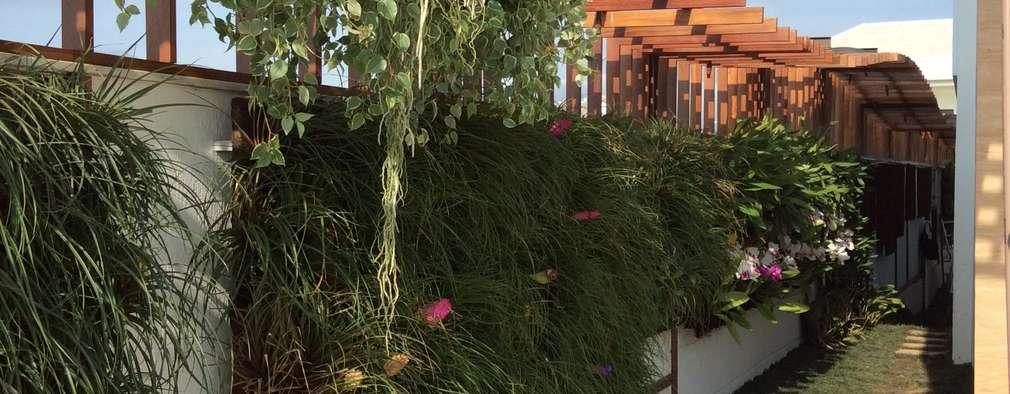 Jardines de estilo moderno por maispaisagem