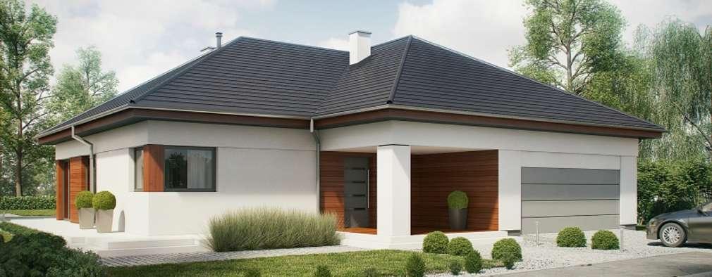moderne Huizen door Słoneczne Domy Pracownia Architektury