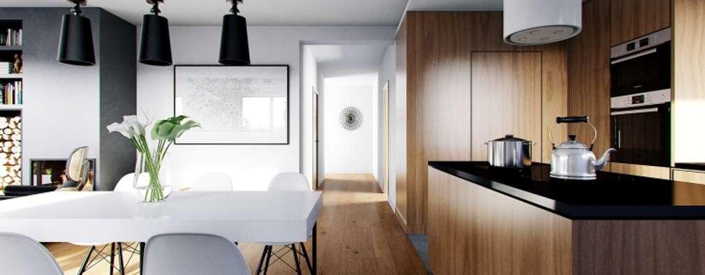 廚房 by Słoneczne Domy Pracownia Architektury