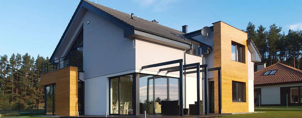 moderne Huizen door Pracownia Projektowa Wioleta Stanisławska