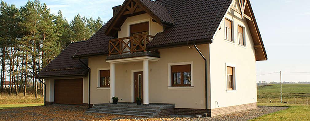 Realizacja projektu Azalia 3: styl klasyczne, w kategorii Domy zaprojektowany przez Biuro Projektów MTM Styl - domywstylu.pl