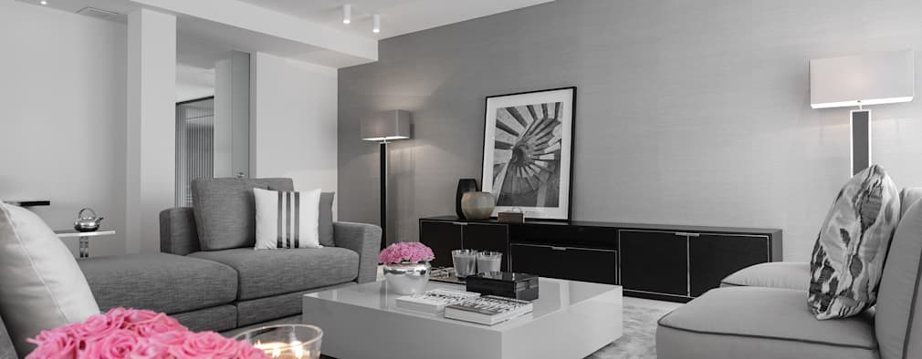 modern Living room by CASA MARQUES INTERIORES